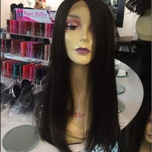 Accessories - Wig Swisslace Lacefront middle part Brown New Wig